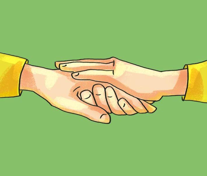 Ръкостискате с длан нагоре