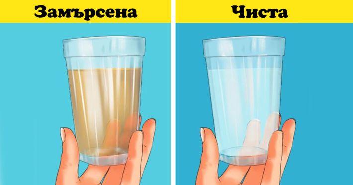 Проверете цвета на водата