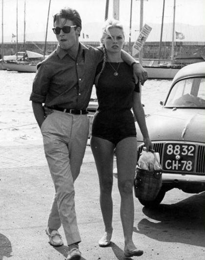 Жак Шарие и Бриджит Бардо, 1968