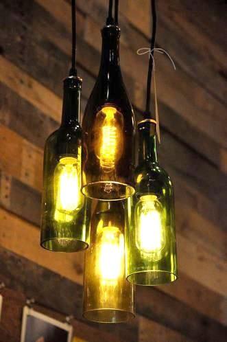 Стари бутилки - лампи