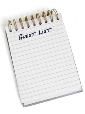 8. Списъкът с гостите