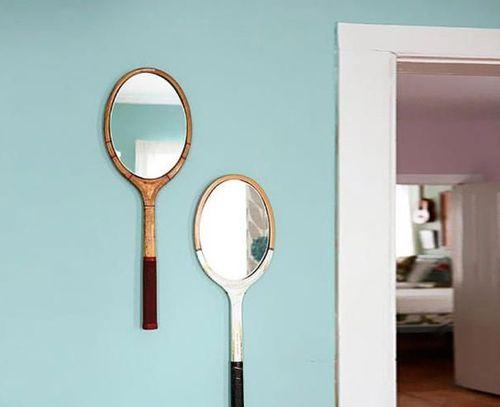 Ракета за федербал, превърната в огледал