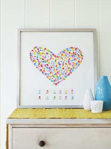 Сърце от отпечатъци