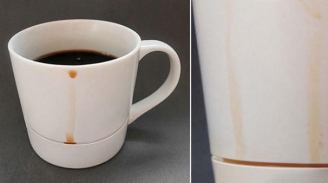 Чаша за кафе, която събира капките
