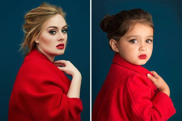 Колко сладко: 3-годишно момиченце се облича като знаменитости