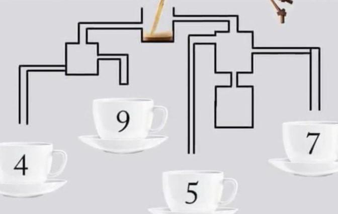 А вие можете ли да решите загадката? Коя чаша ще се напълни първа?