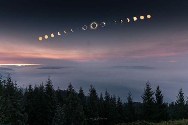 Красотата на природата: Невероятни кадри от слънчевото затъмнение