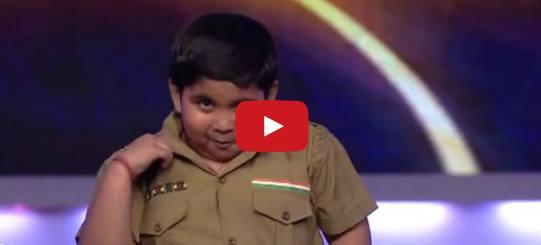 Необикновеното изпълнение на едно индийче, което със сигурност ще ви накара да се засмеете!