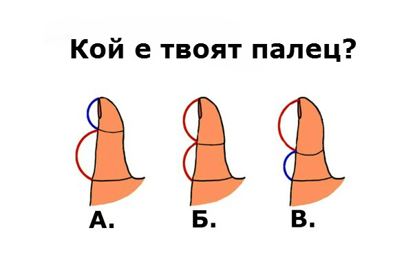 Дължината на палеца показва какъв си в любовта
