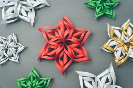 Как да си направим 3D снежинки от хартия?