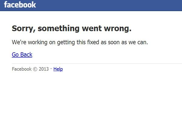 Проблем в мрежата срина Facebook!